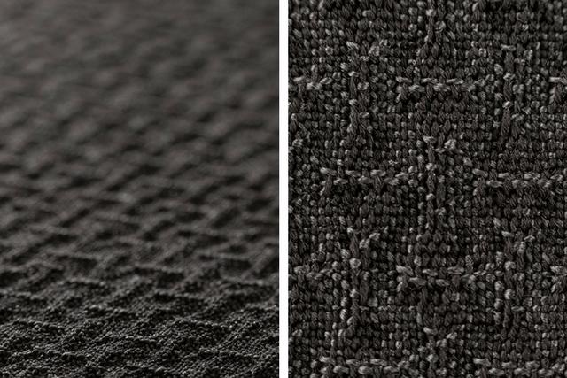Seersucker fabric weave details