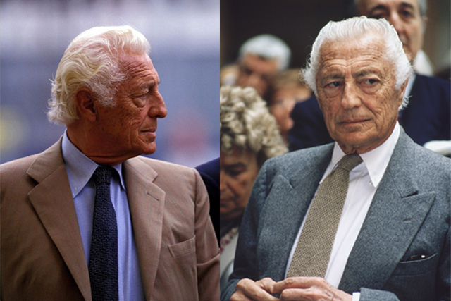 Gianni Agnelli wearing Solaro and flannel suit