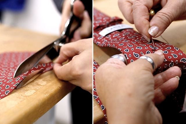 Some steps of our tailoring process