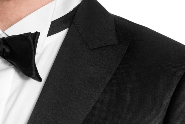 Made to measure tuxedo shirts and bow-tie