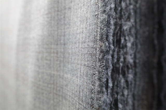 Close-up view of fibers and a fabric texture
