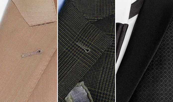 dettagli sartoriali rever giacca uomo
