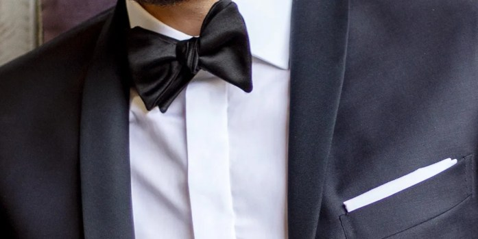 Detail of a custom shirt with a concealed placket