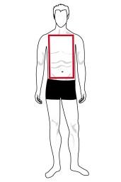 Immagine forma del corpo a rettangolo uomo