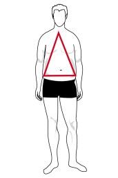 Immagine forma del corpo triangolare uomo