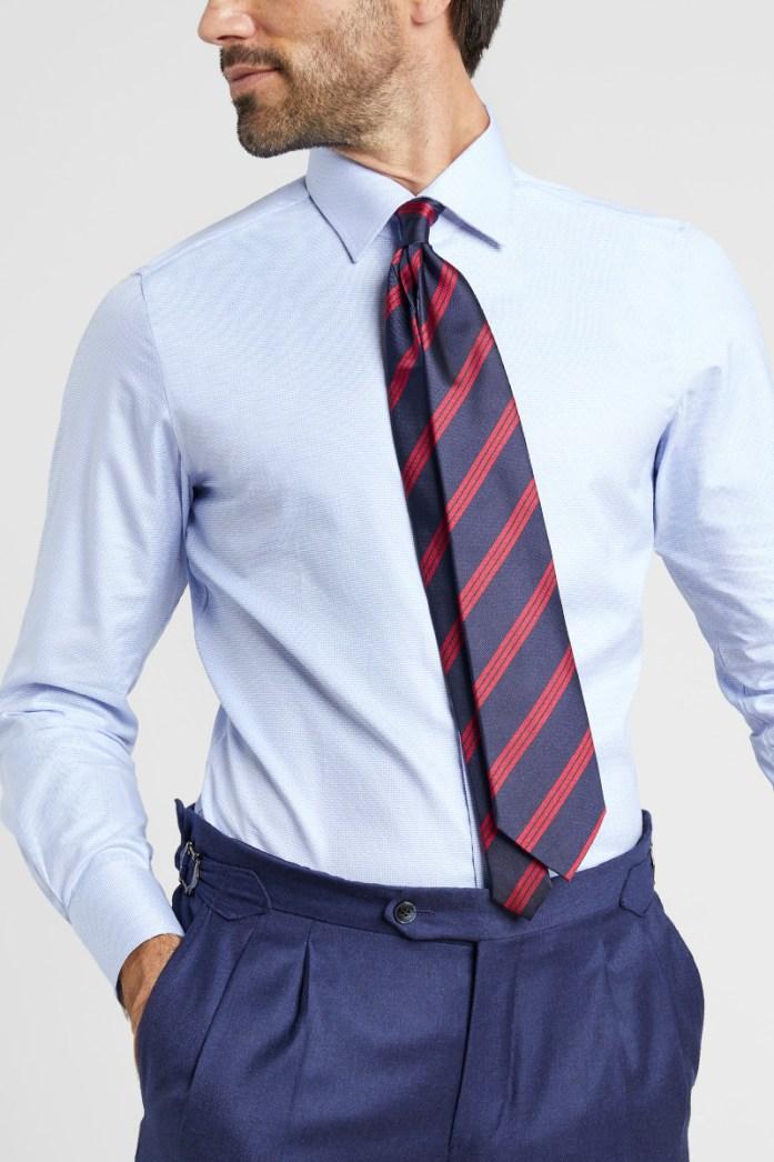 cravatta blu regimental lanieri
