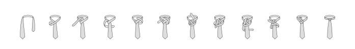 Nodo alla cravatta Trinity passaggi