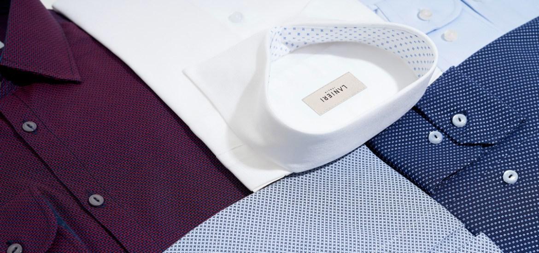 Differenti tipologie di camicie in tessuti diversi