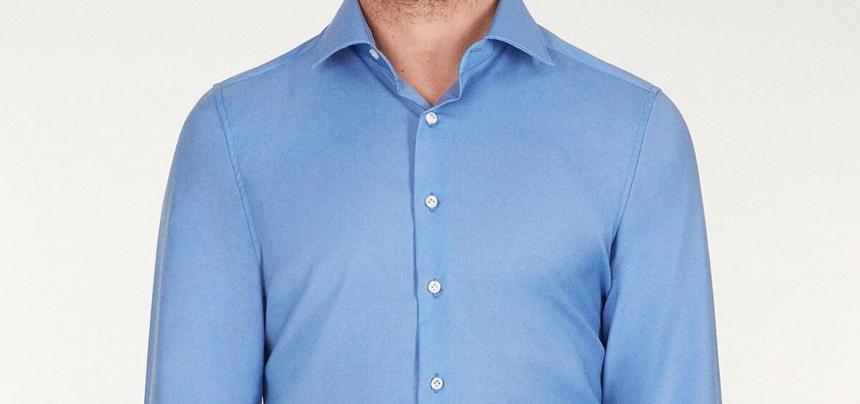 camicia no stiro azzurra