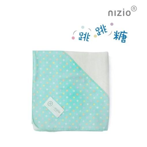 跳跳糖四層紗浴包巾粉綠