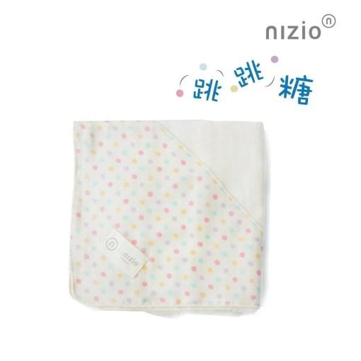 跳跳糖四層紗浴包巾嬰兒白