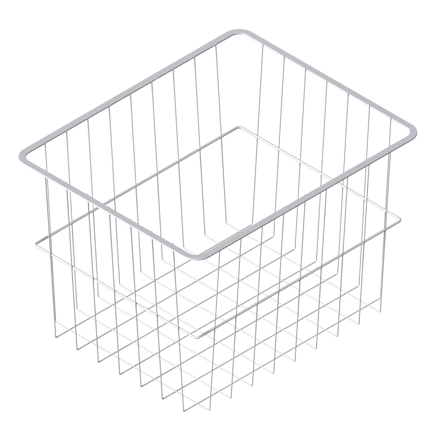 Wire basket with slide strips / material steel wire / LM
