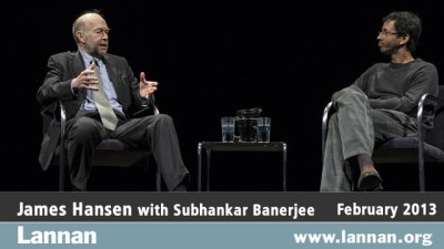 James Hansen with Subhankar Banerjee