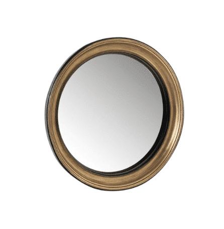 miroir convexe rond or noir