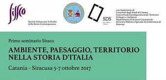 """Seminario: """"Ambiente, paesaggio, territorio nella storia d'Italia"""""""
