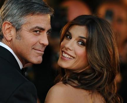 Foto di Elisabetta Canalis con George Clooney al Festival di Venezia