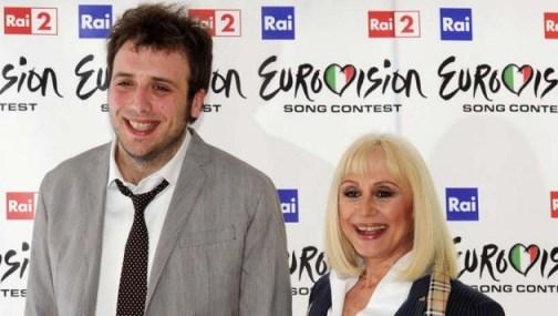 Raffaella Carrà E Bob Sinclair Eurovision Song Contest Foto
