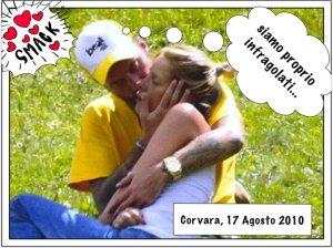 Foto della coppia Alessia Marcuzzi e Francesco Facchinetti