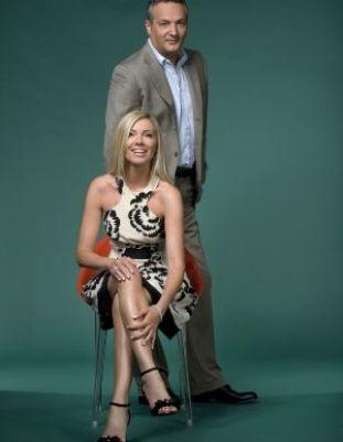 Foto della coppia della domenica di Canale5 Federica Panicucci e Claudio Brachino