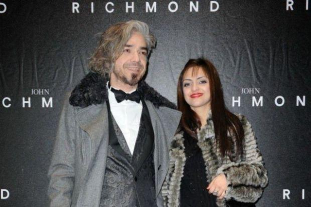 Una foto di Morgan e Jessica alla sfilata Richmond