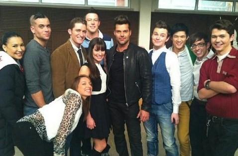 Ricky Martin guest star a Glee