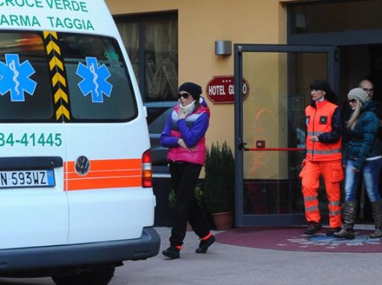 Ivana Mrazova va in ospedale