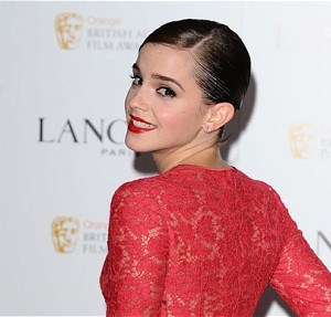 Emma Watson al party Lancome per i Bafta 2012