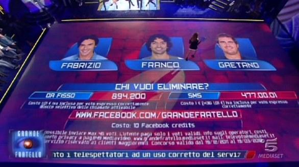 Foto dei nominati del 6 febbraio Fabrizio, Franco e Gaetano