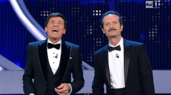 Foto di Gianni Morandi e Rocco Papaleo Sanremo 2012