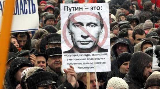 manifestanti contro putin