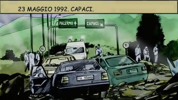 Fumetto Walter Molina strage di Capaci a Servizio Pubblico