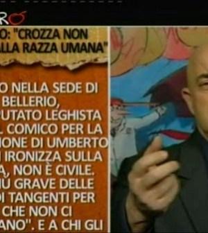 La copertina di Maurizio Crozza su Bossi