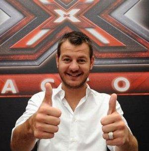 Il conduttore Alessandor Cattelan a X Factor 6