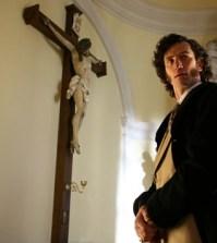 L'attore Andrea Gherpelli dirante la serie Faccia d'angelo