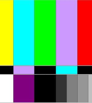barre colorate tv