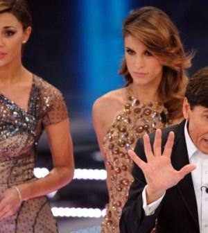 Gianni Morani e Belen Rodriguez a Sanremo