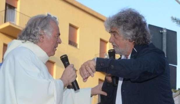 Grillo interrotto dal parroco