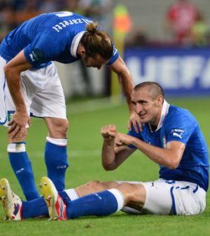 Giorgio Chiellini infortunato salta i quarti con l'Inghilterra