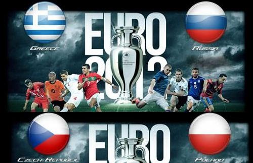Foto di Grecia-Russia e Repubblica Ceca Polonia Euro 2012