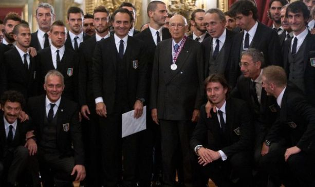 Euro 2012, Napolitano riceve gli Azzurri, Prandelli ringrazia