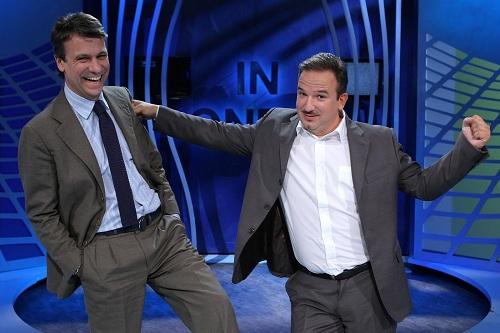 Luca Telese e Nicola Porro a In Onda con Dario Vergassola