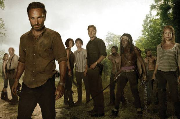 foto cast the walking dead stagione 3