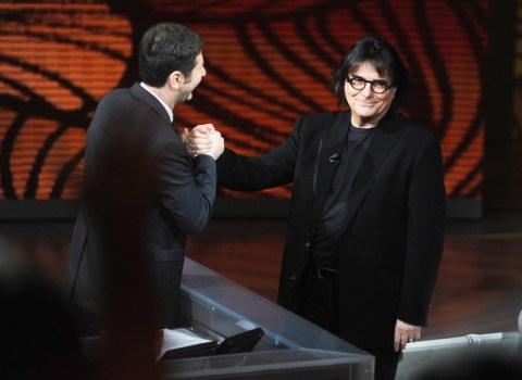 Renato Zero con Fabio Fabio Fazio al Festival di Sanremo