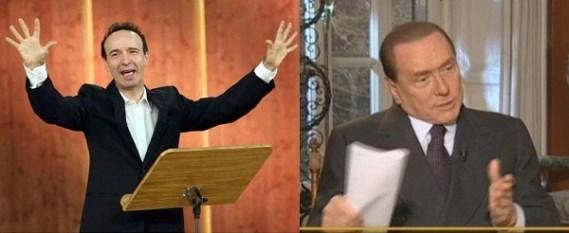 Benigni e Berlusconi a confronto sulla Costituzione