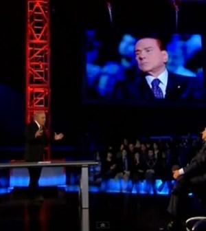 Silvio Berlusconi ospite di Michele Santoro