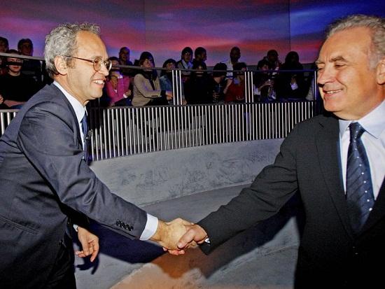Enrico Mentana, Michele Santoro: lite per Servizio pubblico?