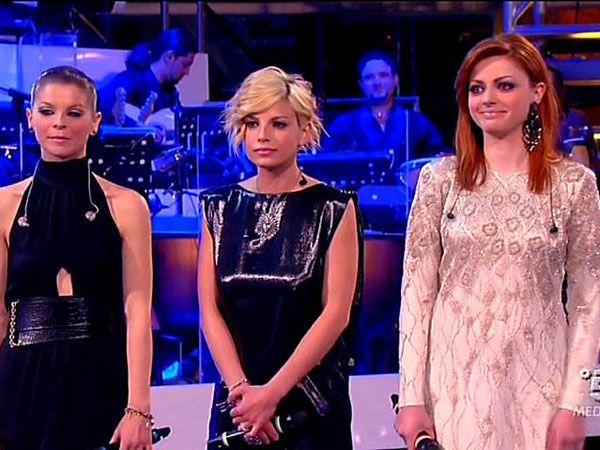 Emma, Alessandra e Annalisa al serale di Amici