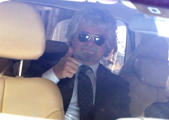 Beppe Grillo da Napolitano
