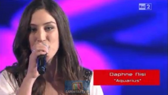 Foto di Daphne Nisi The Voice of Italy