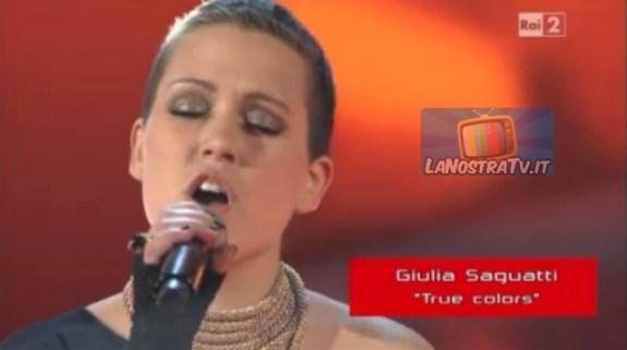 Foto di Giulia a The Voice of italy